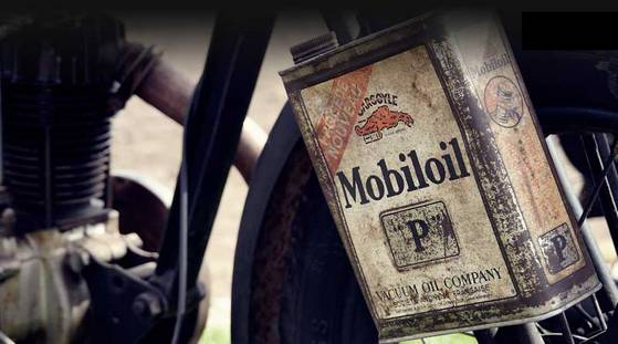Huile vintage Mobiloil